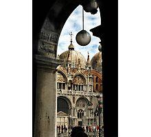 ST. MARKS BASILICA THROUGH COLONNADE Photographic Print