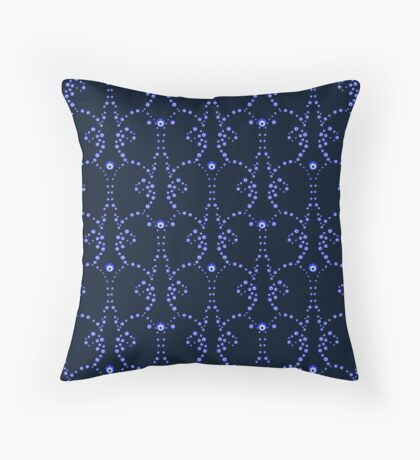 Illustration of evil eye - Turkish amulet Throw Pillow