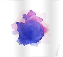 Abstract watercolor art hand paint on white background Poster