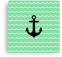 Anchor and Wave Canvas Print