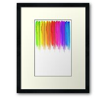 Striped hand drawn watercolor background. Bright colors. Watercolor composition for  print. Framed Print