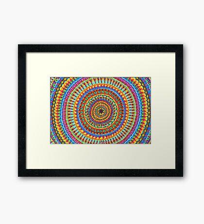 Mayan Mandala Framed Print