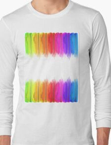 Striped hand drawn watercolor background. Bright colors. Watercolor composition for print. Long Sleeve T-Shirt