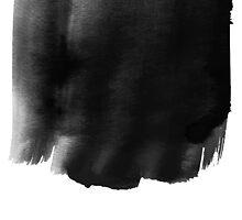 Grunge black watercolor background. by LourdelKaLou
