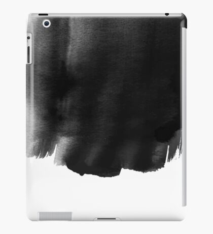 Grunge black watercolor background. iPad Case/Skin
