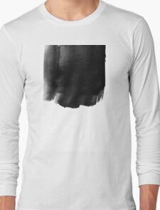 Grunge black watercolor background. Long Sleeve T-Shirt