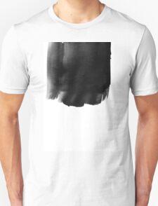 Grunge black watercolor background. Unisex T-Shirt