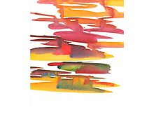 Hand drawing with colored spots and blotches.  Photographic Print