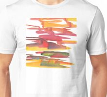 Hand drawing with colored spots and blotches.  Unisex T-Shirt