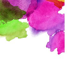 Bright watercolor stains by LourdelKaLou