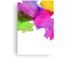 Bright watercolor stains Canvas Print