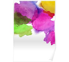 Bright watercolor stains Poster