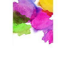 Bright watercolor stains Photographic Print