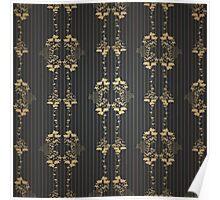 Damask vintage floral pattern Poster
