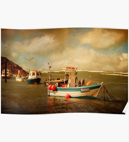 Bude Boats Poster
