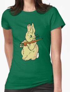 Cute Easter Bunny Womens Fitted T-Shirt