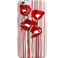 Poppies red flowers abstract.  iPhone Case/Skin