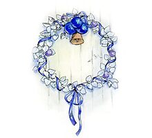 Blue wreath by katzegraphics