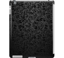 Black  floral wallpaper pattern. iPad Case/Skin