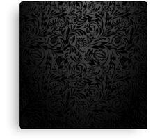 Black  floral wallpaper pattern. Canvas Print