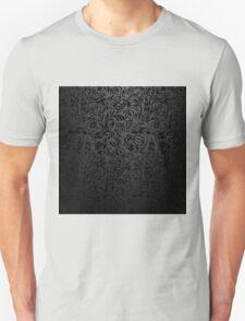 Black  floral wallpaper pattern. Unisex T-Shirt
