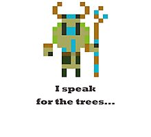 Nature's prophet - I speak for the trees Photographic Print