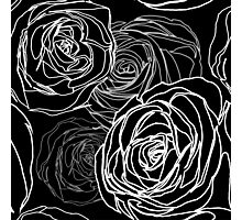 Seamless black rose pattern Photographic Print