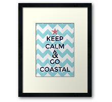 Go Coastal Framed Print