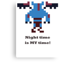 Night Stalker - Night time is my time Canvas Print