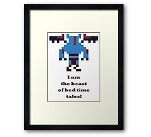 Night Stalker - I am the beast of bed time tales Framed Print