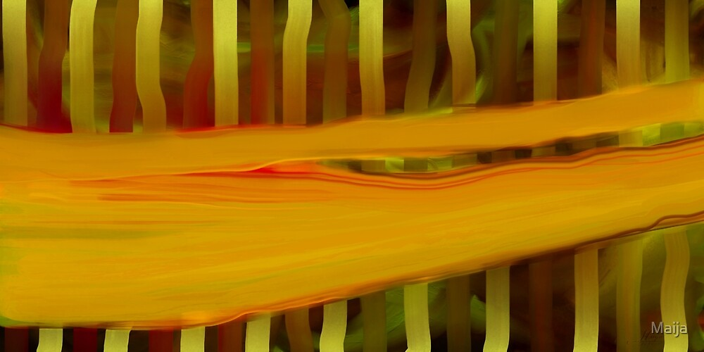 Spirit's Movement In Forest by Maija
