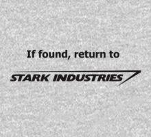 If found, return to Stark Industries Kids Clothes