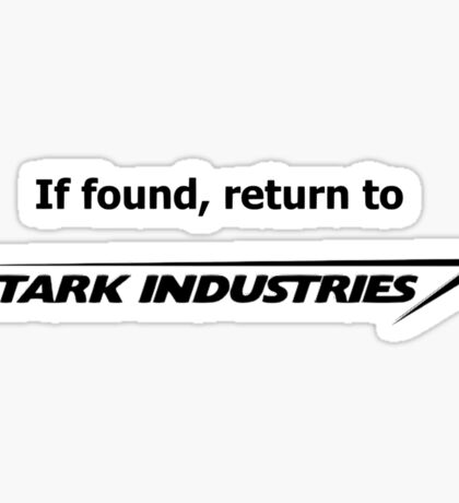 If found, return to Stark Industries Sticker