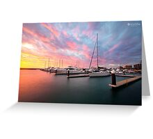 Port Coogee Marina boats Western Australia  Greeting Card