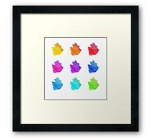 Abstract hand drawn watercolor blots.  Framed Print