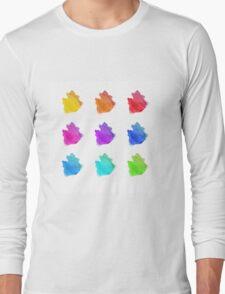 Abstract hand drawn watercolor blots.  Long Sleeve T-Shirt