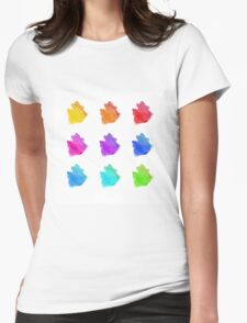 Abstract hand drawn watercolor blots.  Womens Fitted T-Shirt