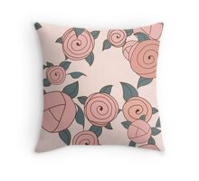 Seamless roses pattern. Vintage roses. Throw Pillow