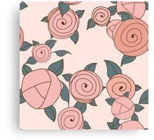 Seamless roses pattern. Vintage roses. Canvas Print