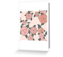 Seamless roses pattern. Vintage roses. Greeting Card