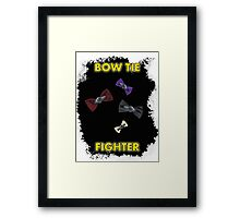 BOW TIE FIGHTER CARD Framed Print
