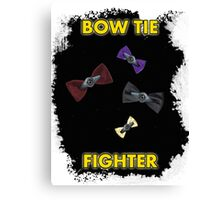 BOW TIE FIGHTER CARD Canvas Print