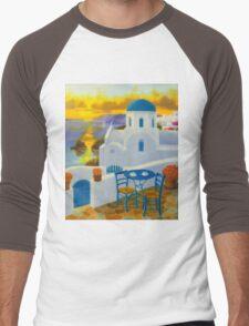 Santorini Men's Baseball ¾ T-Shirt