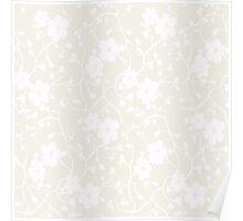 Floral pattern background spring. Beige pattern Poster