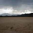 Rain on Roach Dry Lake by Chris Clarke