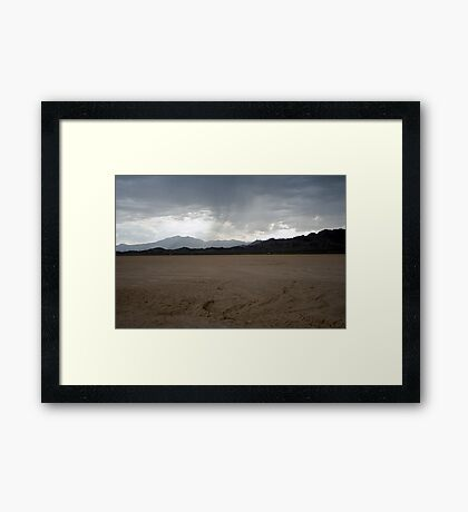 Rain on Roach Dry Lake Framed Print