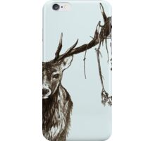 Stag Standing Sketch iPhone Case/Skin