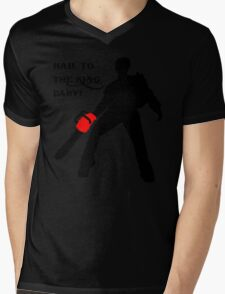 Hail to the King Baby Mens V-Neck T-Shirt