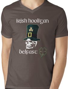 irish hooligan belfast - skull Mens V-Neck T-Shirt