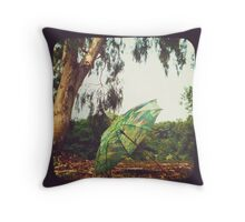 Monet in the Park Throw Pillow